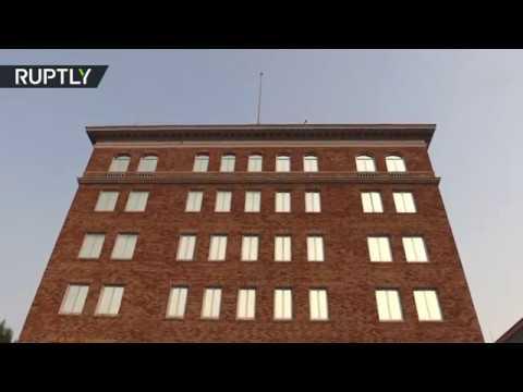 مصر اليوم - شاهد إنزال العلم الروسي عن مباني القنصلية الروسية في سان فرانسيسكو