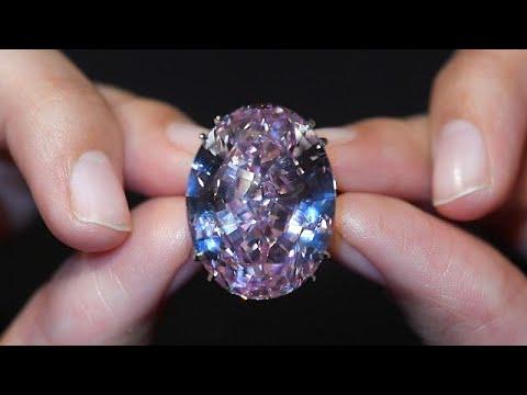 مصر اليوم - شاهد هذا هو سعر أكبر حجر الماس وردي يُباع في مزاد