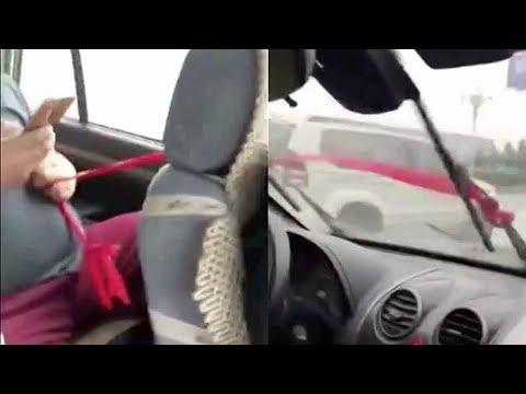 مصر اليوم - شاهد طريقة صينية لتشغيل مساحات السيارة أثناء الأمطار
