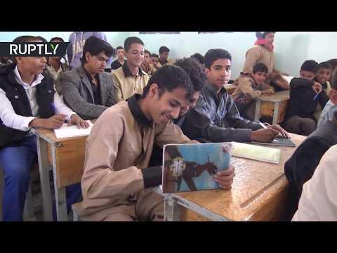 مصر اليوم - شاهد بدء سنة دراسية في صنعاء