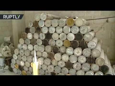 مصر اليوم - شاهد الجيش السوري يعثر على كدس كبير للعتاد في الميادين
