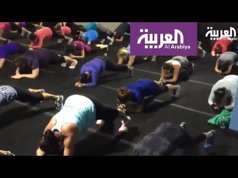 مصر اليوم - سعوديات في معسكر في جدة