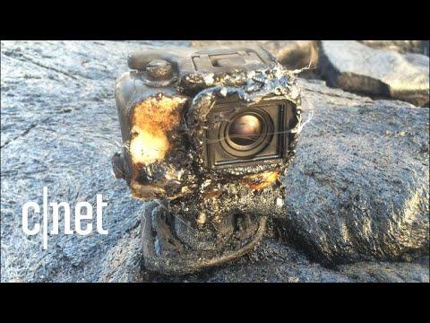شاهد ماذا يحدث للكاميرا إذا سقطت فريسة للحمم البركانية