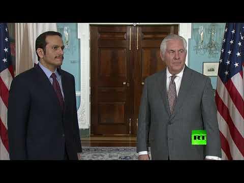 شاهد لقاء وزير الخارجية القطري مع نظيره الأميركي في واشنطن