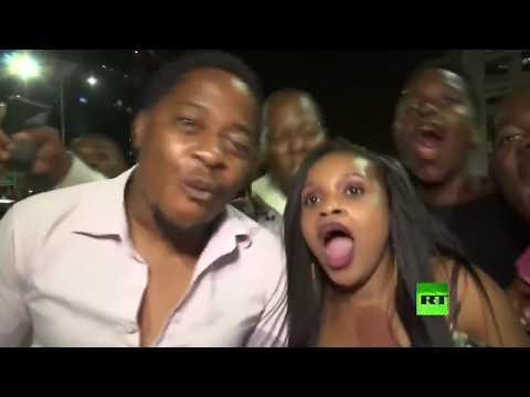 شاهد احتفالات في زيمبابوي بعد استقالة الرئيس موغابي