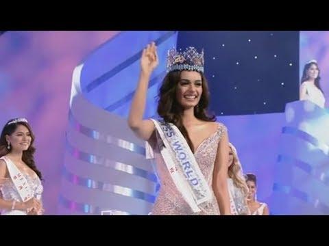شاهد لحظة تتويج الهندية مانوشي تشيلار ملكة لجمال العالم 2017