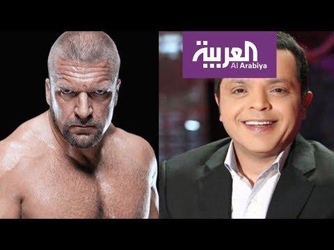 مزحة الممثل المصري هنيدي توصله إلى حلبة المصارعة