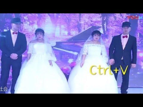 شاهد حفل زفاف شقيقين توأم من أختين توأم يربك الضيوف