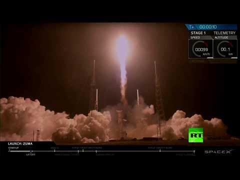 شاهد spacex تطلق صاروخًا حاملًا لقمر صناعي أميركي سرّي