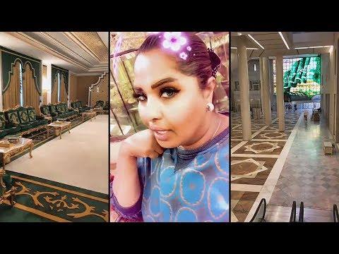 هيا الشعيبي تصدم من فخامة مركز الملك فهد الثقافي في الرياض