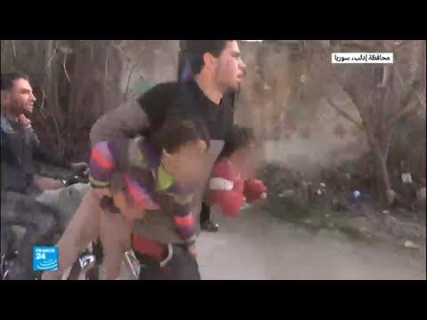 شاهد غارات جوية كثيفة على ريف إدلب