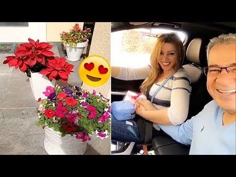 شاهد زوجة مصطفى الأغا تفاجئه بعيد الحب 2018