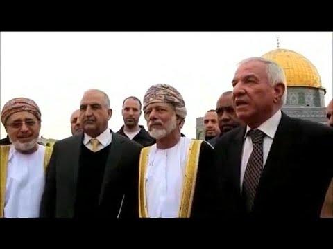 شاهد  وزير الخارجية العُماني في زيارة خليجية تاريخية إلى المسجد الأقصى