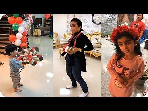 شاهد تحضيرات الفنانة أبرار وأولادها لليوم الوطني الكويتي