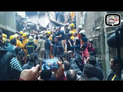 شاهد   لحظة إنقاذ طفل من تحت أنقاد عقار في منشأة ناصر