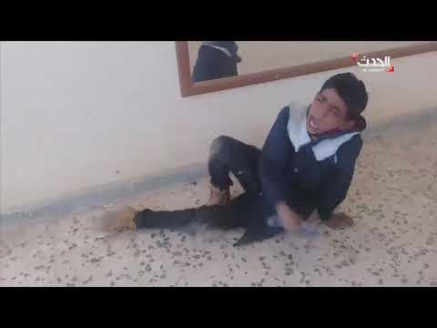 بالفيديو لحظة اعتداء معلم على الطلاب بطريقة وحشية