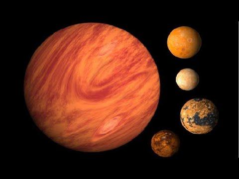 نظرة على أكبر أقمار مجموعتنا الشمسية