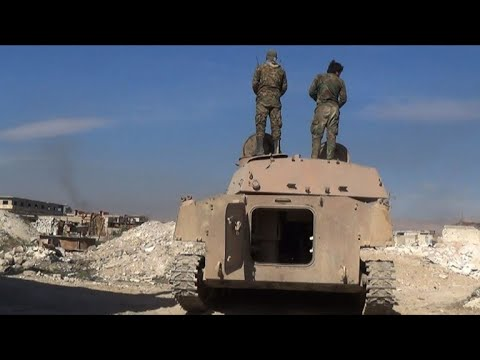 شاهد قوات الحكومة تسيطر على أكثر من 70من مساحة الغوطة الشرقية