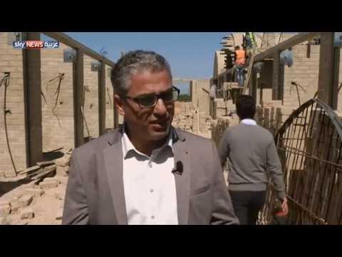 شاهد  أول سوق شعغزةبي مبني من الطين