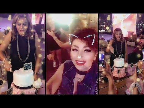 ديما بياعه تحتفل بعيد ميلاد والدتها مها المصري