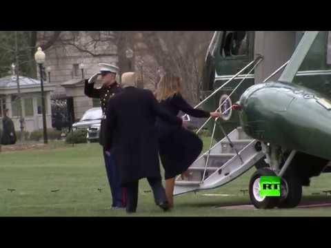 شاهد كيف أنقذ دونالد ترامب زوجته ميلانيا