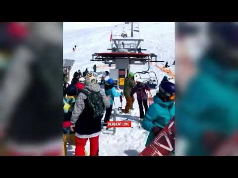 بالفيديو مشاهد صادمة لحادث تعطّل تلفريك في جورجيا