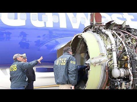 بالفيديو محرك ينفجر في الهواء ويبتلع راكبة أميركية