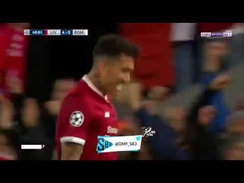 بالفيديو هدف ليفربول الخامس في روما