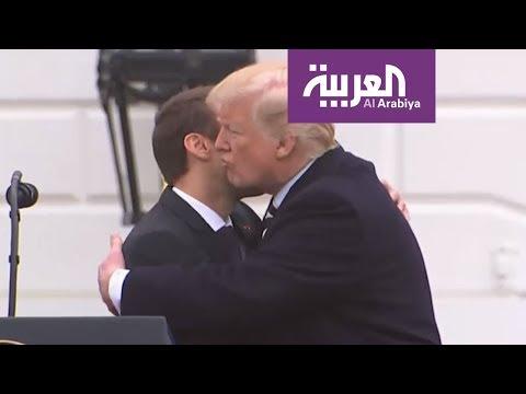 شاهد لغة الجسد تكشف أسرار العلاقات بين ترامب وماكرون