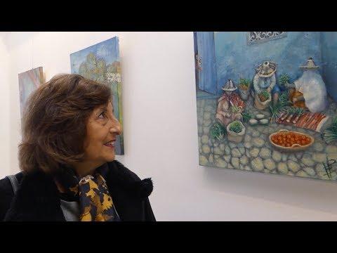 التشكيلية المغربية إيستير بنمامان تعرض لوحاتها