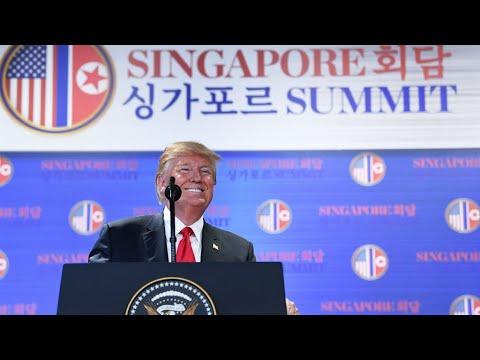 ترامب يؤكد أن قمة سنغافورة ساهمت بتجنيب العالم كارثة نووية