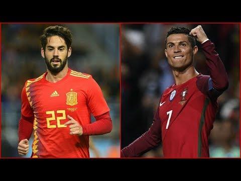 شاهد  بث مباشر لمباراة البرتغال وإسبانيا