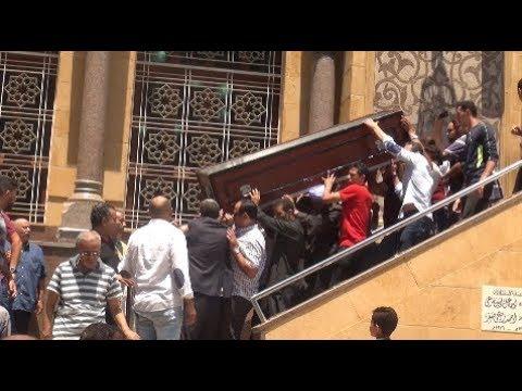 شاهد تشييع جثمان والد زوجة شوبير من الحامدية الشاذلية