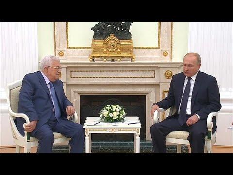 بوتين يلتقي عباس قبيل القمة الروسية الأميركية