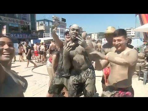 شاهد اللعب بالطين في كوريا الجنوبية
