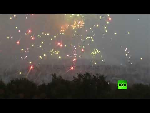 شاهد سماء موسكو تُضيء لحظة اختتام المونديال
