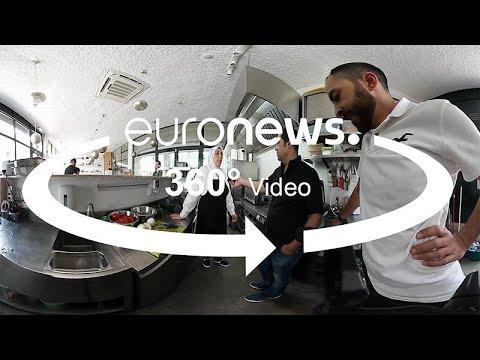 شاهد مطعم للاجئين سوريين في لشبونة لتقديم المأكولات والتبادل الثقافي