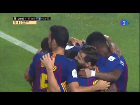 شاهد هدف الفوز بـالسوبر الإسباني لصالح برشلونة