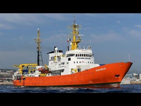 شاهد حكومة بنما تُطالب سفينة أكواريوس بإنزال علمها