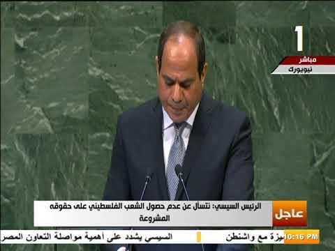 شاهد الرئيس السيسي يؤكد أن يد العرب لا تزال ممدودة بالسلام