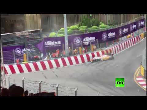 الألمانية سوفيا فلورش تتعرض لحادث مروع خلال مشاركتها في سباق ماكاو