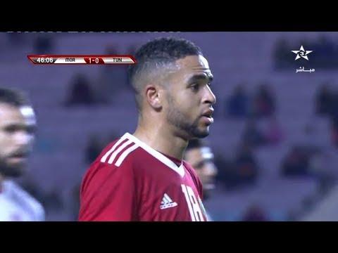 شاهدهدف المنتخب المغربي في مرمى تونس