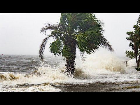 إعصار  مايكل  القوي يضرب شواطىء فلوريدا