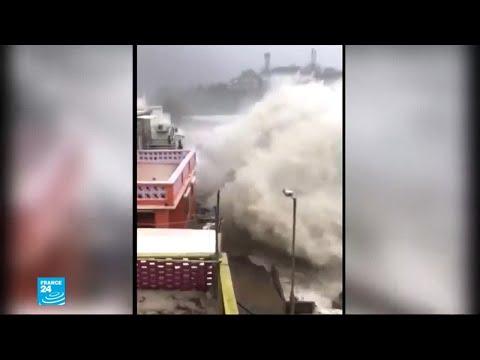 مشاهد مرعبة من الإعصار القوي الذي اجتاح الفلبين