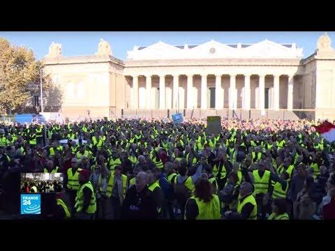 شاهد غضب شعبي فرنسي واستنفار أمني عشية احتجاجات السترات الصفراء