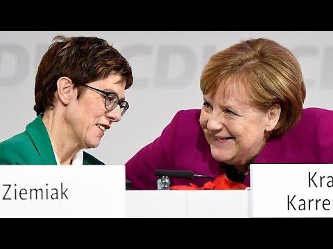 شاهد الألمانية أنغريت كرامبكارنباور خليفة ميركل