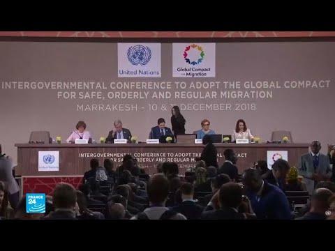 شاهد 150 دولة تتبنى ميثاق الأمم المتّحدة بشأن الهجرة في مؤتمر مراكش