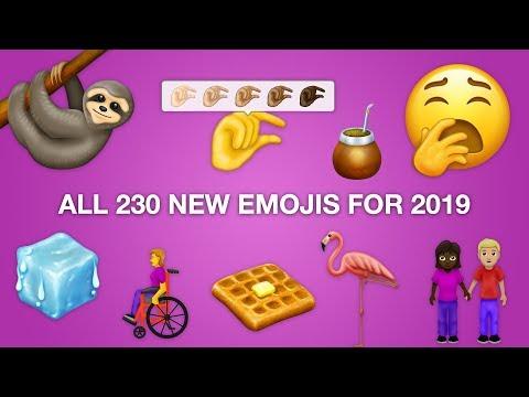 شاهد إصدار 59 رمزًا تعبيريًا إيموجي جديدًا لعام 2019