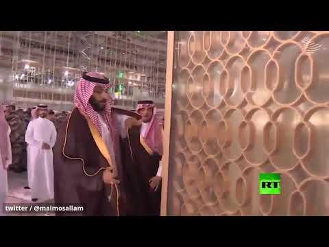 شاهد ولي العهد السعودي يتفقد توسعة الحرم المكي