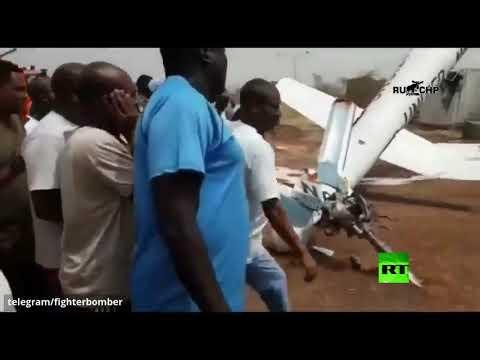 شاهد لحظة تحطم مروحية عسكرية للأمم المتحدة في جنوب السودان